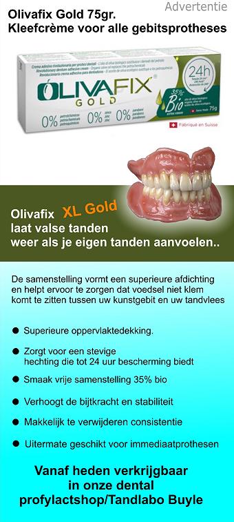 Olivafix, laat valse tanden weer als je eigen tanden aanvoelen.